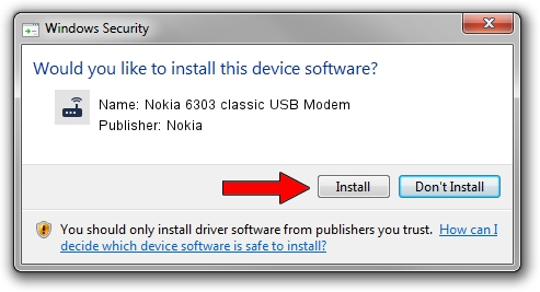 Nokia Nokia 6303 classic USB Modem setup file 1439540