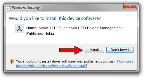 Nokia Nokia 7210 Supernova USB Device Management driver installation 1323367