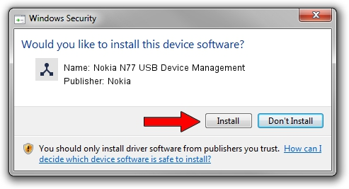 Nokia Nokia N77 USB Device Management driver installation 1264769