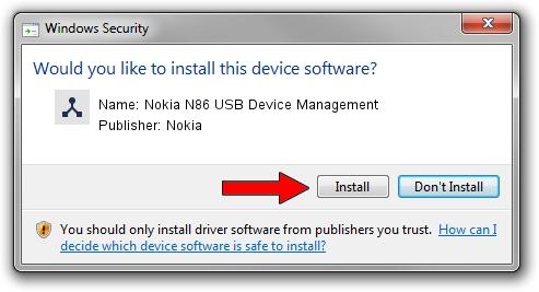 Nokia Nokia N86 USB Device Management driver installation 1508023
