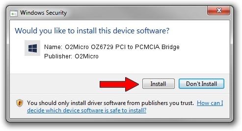 O2Micro O2Micro OZ6729 PCI to PCMCIA Bridge driver installation 1211903