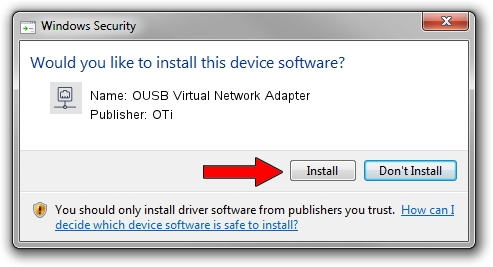 OTi OUSB Virtual Network Adapter driver installation 1438665
