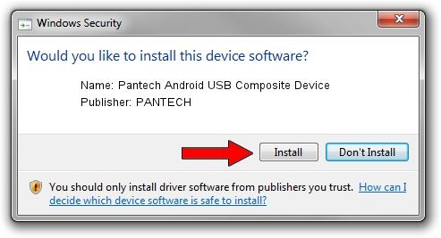 PANTECH Pantech Android USB Composite Device setup file 2016928