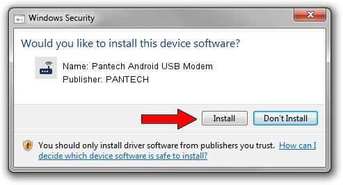 PANTECH Pantech Android USB Modem setup file 1857275