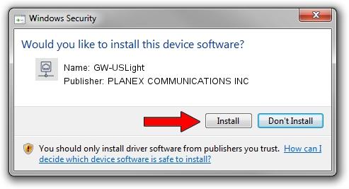 PLANEX COMMUNICATIONS INC GW-USLight driver installation 34975