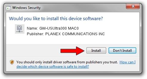 PLANEX COMMUNICATIONS INC GW-USUltra300 MAC0 driver installation 706225