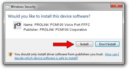 PROLiNK PCM100 Corporation PROLiNK PCM100 Voice Port FFFC setup file 1265785