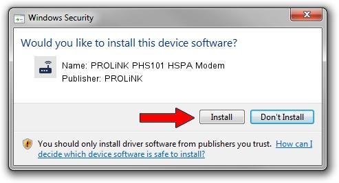 PROLiNK PROLiNK PHS101 HSPA Modem driver installation 1858961