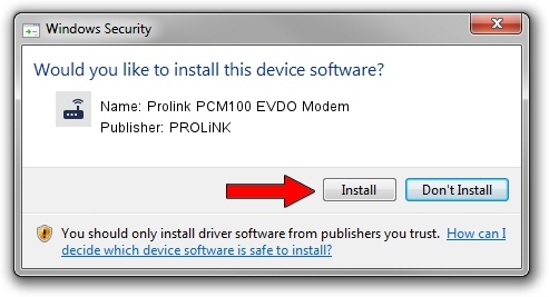 PROLiNK Prolink PCM100 EVDO Modem driver installation 1422270