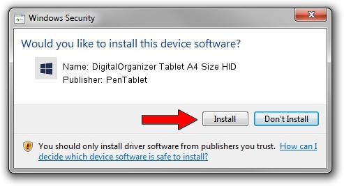PenTablet DigitalOrganizer Tablet A4 Size HID driver installation 1102423