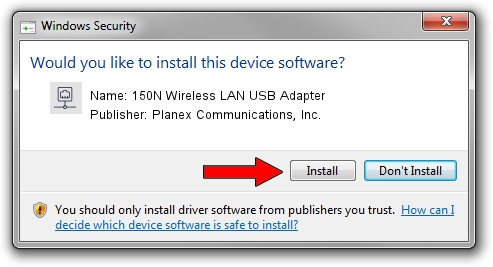 Planex Communications, Inc. 150N Wireless LAN USB Adapter driver download 1709110