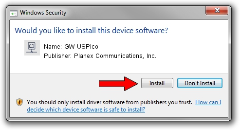 Planex Communications, Inc. GW-USPico driver installation 1380665