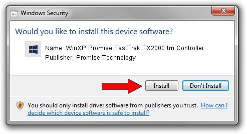 Promise Technology WinXP Promise FastTrak TX2000 tm Controller driver installation 1707068