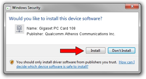 Qualcomm Atheros Communications Inc. Gigaset PC Card 108 driver installation 31001