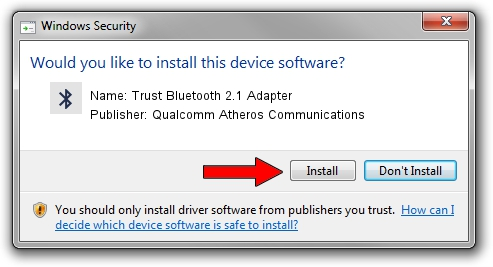 Qualcomm Atheros Communications Trust Bluetooth 2.1 Adapter driver installation 5280
