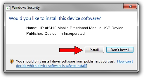 Qualcomm Incorporated HP at2410 Mobile Broadband Module USB Device driver download 1420771