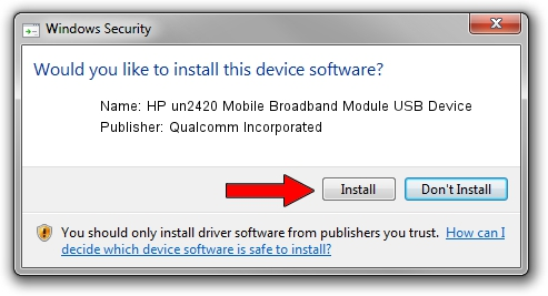 Qualcomm Incorporated HP un2420 Mobile Broadband Module USB Device driver download 1382214