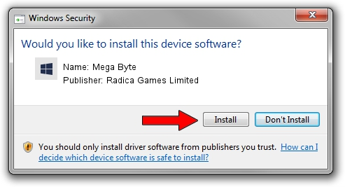 Download and install Radica Games Limited Mega Byte - driver