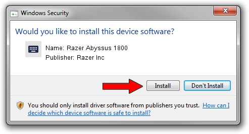 Razer Inc Razer Abyssus 1800 setup file 50685