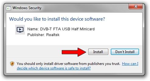 Realtek DVB-T FTA USB Half Minicard driver installation 1783328