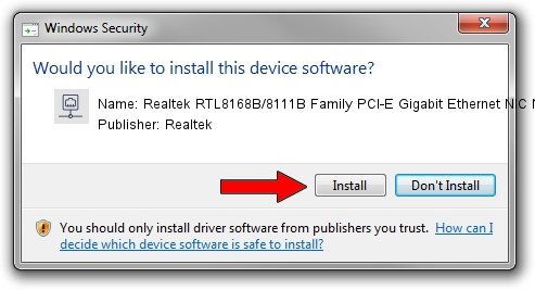 Realtek Realtek RTL8168B/8111B Family PCI-E Gigabit Ethernet NIC NDIS 6.0 setup file 991819