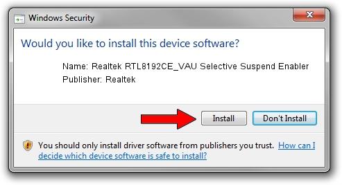 Realtek Realtek RTL8192CE_VAU Selective Suspend Enabler driver download 787274