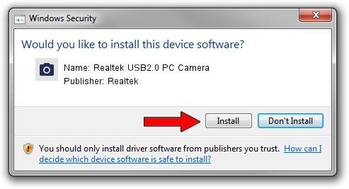 Realtek Realtek USB2.0 PC Camera driver installation 92025