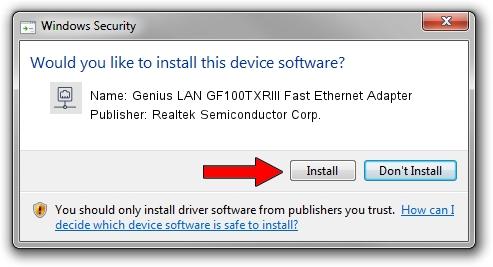 Realtek Semiconductor Corp. Genius LAN GF100TXRIII Fast Ethernet Adapter driver download 2093763