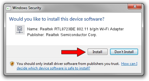 Realtek Semiconductor Corp. Realtek RTL8723BE 802.11 b/g/n Wi-Fi Adapter setup file 579401