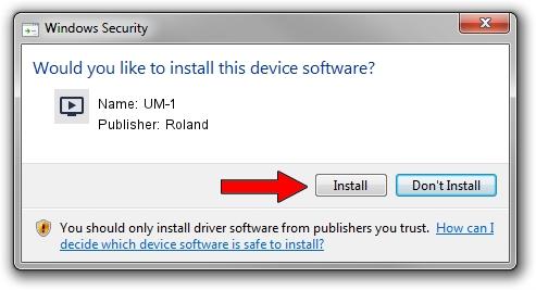 Roland UM-1 driver installation 578976