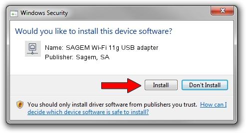 Sagem, SA SAGEM Wi-Fi 11g USB adapter driver installation 1419523