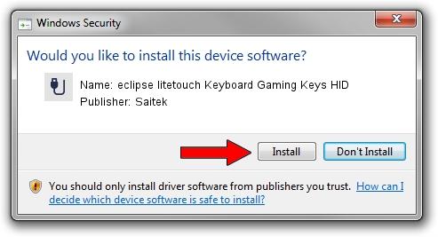 Saitek eclipse litetouch Keyboard Gaming Keys HID setup file 2097008