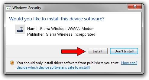 Sierra Wireless Incorporated Sierra Wireless WWAN Modem driver installation 1387365