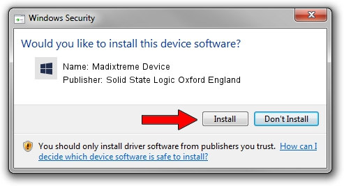Solid State Logic Oxford England Madixtreme Device setup file 609544