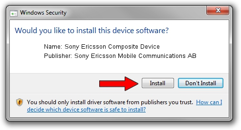 Sony Ericsson Mobile Communications AB Sony Ericsson Composite Device driver installation 1637781