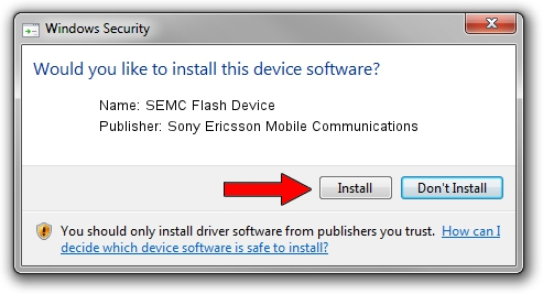 SONY ERICSSON SEMC USB FLASH DRIVER WINDOWS XP