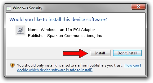 Sparklan Communications, Inc. Wireless Lan 11n PCI Adapter driver installation 1401618