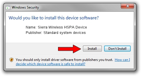 Standard system devices Sierra Wireless HSPA Device driver installation 1391331