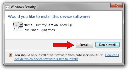Synaptics DummySectionForWHQL setup file 1393217