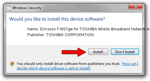 TOSHIBA CORPORATION Ericsson F3607gw for TOSHIBA Mobile Broadband Network Adapter setup file 1409653