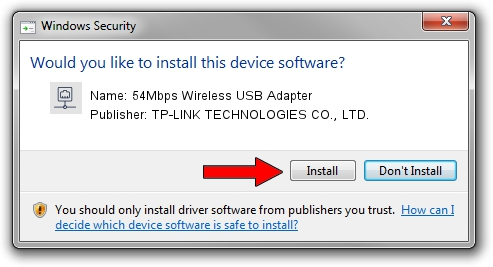 TP-LINK TECHNOLOGIES CO., LTD. 54Mbps Wireless USB Adapter driver installation 990986
