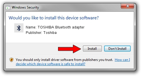 Toshiba TOSHIBA Bluetooth adapter driver installation 1383430