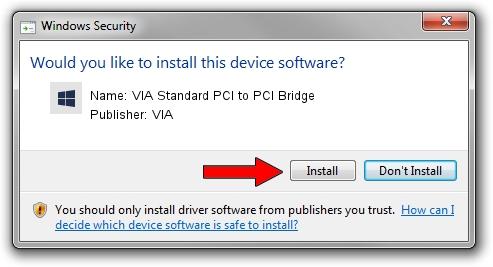 VIA VIA Standard PCI to PCI Bridge setup file 1394848