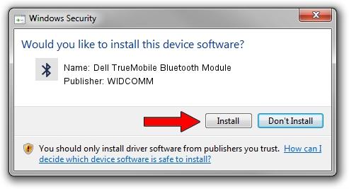 WIDCOMM Dell TrueMobile Bluetooth Module driver installation 1412967