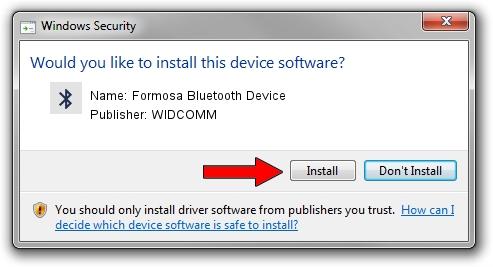 WIDCOMM Formosa Bluetooth Device driver installation 1397540