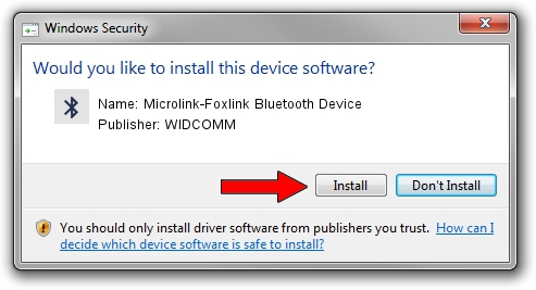 WIDCOMM Microlink-Foxlink Bluetooth Device driver installation 1381374