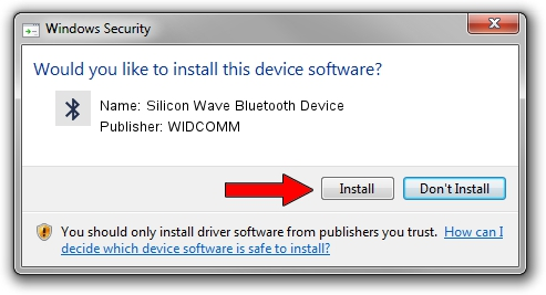 WIDCOMM Silicon Wave Bluetooth Device setup file 1412976