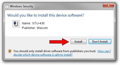 Download and install Wacom STU-430 - driver id 72473