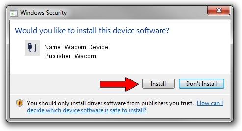 Wacom Wacom Device driver installation 123107