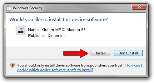 XircomInc Xircom MPCI Modem 56 driver installation 1423126